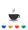 coffee cup icon tea cup hot drink coffee vector image