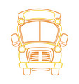 color line school bus transportation to education vector image vector image