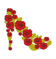 colorful silhouette of high heel shoe formed by vector image vector image