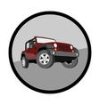 Convertible car off-road jeep SUV vector image vector image