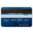 credit cards back view vector image