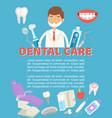 dental care poster dental vector image vector image
