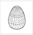 Easter egg with ornaments vector image vector image