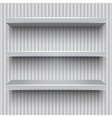 Empty grey shelves striped wall vector image vector image