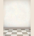 Empty Room White Wall Tile Floor vector image vector image