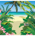 Exotic Paradise Beach vector image vector image