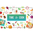 flat eco food colorful concept vector image