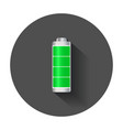 full level battery charge level indicator with vector image vector image