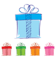 Gift box isolated on white background Multicolored vector image