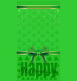 green festive background for st patricks day vector image vector image