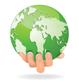 Hands Save Earth vector image vector image