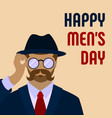 happy men day concept background cartoon style vector image