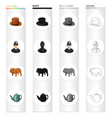 hat is a cylinder a policeman an english bulldog vector image vector image