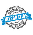 integration stamp sign seal vector image vector image