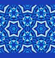 kaleidoscope bright blue star background vector image vector image