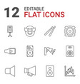 loud icons vector image vector image