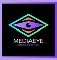 media eye logo vector image