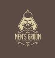 meens groom logo design vintage vector image vector image
