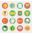 Modern flat icons design for business and finance vector image vector image