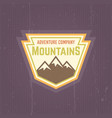 mountains vintage colored label vector image vector image