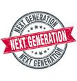 next generation round grunge ribbon stamp vector image vector image