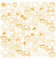 orange icon on white background vector image vector image