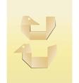 paper bird icon vector image vector image