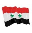 political waving flag of syria vector image vector image