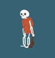 prehistoric human skeleton with truncheon zombie vector image vector image