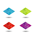 Puzzle in different colors- logo vector image vector image