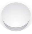 Realistic white round package box for products put vector image vector image