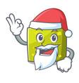 santa square mascot cartoon style vector image