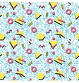 Seamless abstract pattern fashion 80-90s vector image vector image