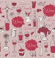 seamless pattern on the theme of food and drink vector image vector image