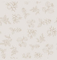 seamless pattern with hazelnut peach japanese vector image