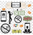Selfie related icons set vector image vector image