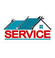 service house vector image vector image