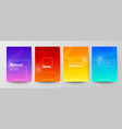 set abstract wave line on gradient background vector image