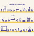 set different furniture icons vector image vector image