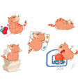 Set of Cartoon Cute Cats for you De vector image vector image