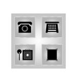set of telephone icons for antiquity vector image vector image