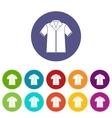 Shirt polo set icons vector image vector image