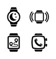 smartwatch smart clock simple related icons vector image vector image