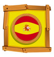 spain flag on round badge vector image vector image