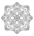 square ornamental mandala with rhombus in middle vector image vector image