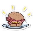 sticker of a cartoon bacon sandwich