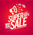 super sale offer mega deal discounts advertising vector image