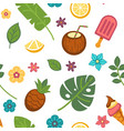 tropical exotic summer pattern background vector image vector image