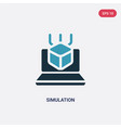 two color simulation icon from programming vector image vector image