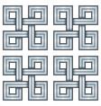 viking decorative knot - engraved silver - basic vector image